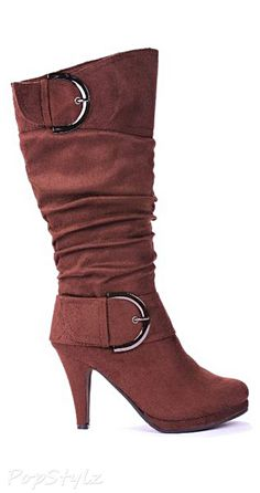 JJF Shoes Page30 Two Buckle Mid-Calf Slouch Boot