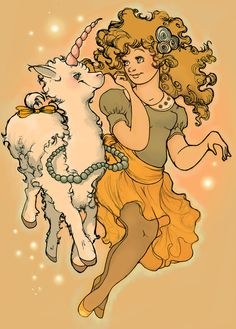 Llama unicorn princess super quick sketch - Christiana Illustrations