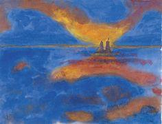 Nubes rojas - Emil Nolde | Museo Thyssen