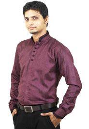http://tinyurl.com/hnfolb6 Buy Online Expensive SENSATION Mauve Linen Party Wear Shirts only on GetAbhi.com