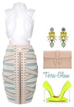 A fashion look from May 2016 by terra-glam featuring Dion Lee, Marina Hoermanseder, Christian Louboutin, Hermès and Elizabeth Cole Fashion Mode, Fashion Killa, Love Fashion, Fashion Looks, Womens Fashion, Fashion Trends, Classy Outfits, Sexy Outfits, Stylish Outfits
