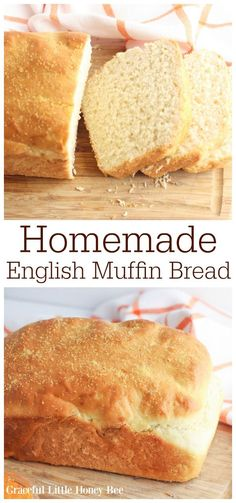 Homemade English Muffin Bread Recipe – Graceful Little Honey Bee Make this recipe for Homemade English Muffin Bread for a perfectly toastable slice of heaven. Slather it with butter, honey or jam and you're all set. Find the recipe at gracefullittlehon… English Muffin Bread, Homemade English Muffins, Homemade Muffins, Homemade Breads, Muffin Recipes, Baking Recipes, Soup Recipes, Dinner Recipes, Lasagna Recipes