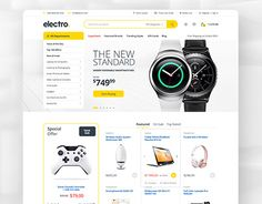 """Check out new work on my @Behance portfolio: """"Electro - Electronics eCommerce PSD"""" http://be.net/gallery/34538955/Electro-Electronics-eCommerce-PSD"""