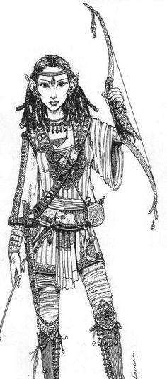 Elf from Eartdawn by Lorrain on DeviantArt