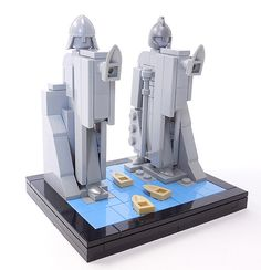 Micro build of The Pillars of Argonath from Lord of the Rings.