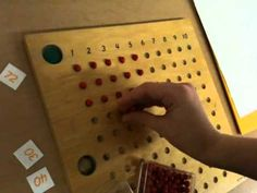 ▶ Montessori Multiplication Board - YouTube THIS is what math should look like for children.