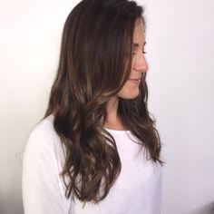 Brunette balayage // Honey highlights // HairXBrittany