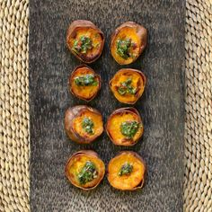 Sweet roasted yams combine with a citrusy cilantro cacao nib sauce in a quick, delicious side dish that's perfect for vegan, gluten-free, and paleo guests – but