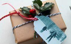 DIY: Gift tags using old photos