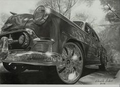 The actual way to draw a car with pencil