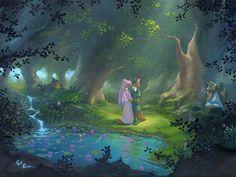 """Stealing her Heart"" By Rob Kaz - Original Oil on Canvas, 18x24.  #Disney #DisneyFineArt #RobKaz"