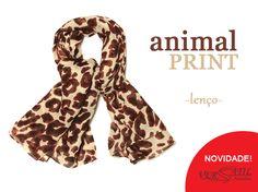 Lenço animal print ... oncinha linda!!! http://versatilacessorios.com.br/