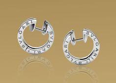Bulgari Earrings - White Gold w/ Pave Diamonds