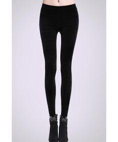 Chic Solid Color Hign Waist Slimming Leggings For Women