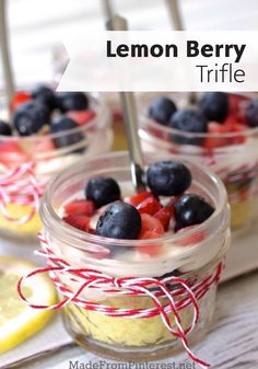 Looking for a perfectly sweet dessert that is the epitome of 4th of July fun? Check out this Lemon Berry Trifle with Lemon Curd Whipped Cream, which is topped with delicious bites of fresh summer fruit!