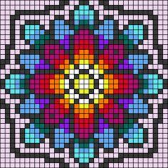 Alpha friendship bracelet pattern added by kassoumi. Beginner Cross Stitch Patterns Free, Cross Stitch Charts, Pixel Pattern, Mandala Pattern, Alpha Patterns, Quilt Patterns, Cross Stitching, Cross Stitch Embroidery, Pixel Art Grid
