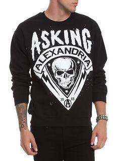 Asking Alexandria Skull Crewneck Sweatshirt | Hot Topic