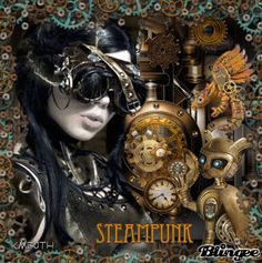"""Steampunk...unique uses for old """"things"""" that get repurposed."""