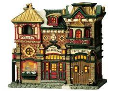 Lemax-Firehouse-No-9-Lighted-Building-Caddington-Village-Collect-2004-Item-45055