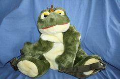 Aurora World Green Frog Backpack Prince Plush Stuffed Animal Toy Bookbag Boys