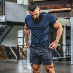 Men's Workout Fitness Shorts With Leg Opening