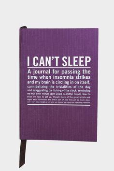 Can't Sleep Mini Journal