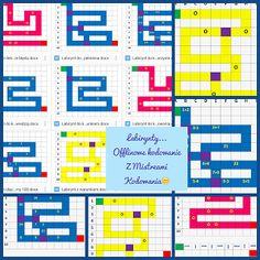 Labirynty...warunki...matematyka...z planszami do wydruku ~ Kodowanie na dywanie