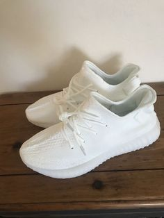b6b73b753 Adidas Yeezy Boost 350 v2 triple white Size 8.5  fashion  clothing  shoes