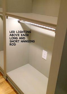 LED Lighting | Mary Sherwood Lifestyles - CLOSET-CUSTOM-LED-LIGHTING-ROD #customclosets