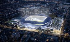 Night view of Stadium Plan, just wait to be there xxxxx #coys