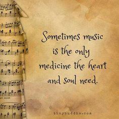 sometimes music...