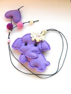 Felt bookmark felt elephant felt toy gift for child  by Marywool, $13.00