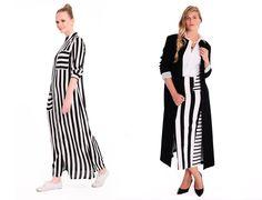 Merve Dağlı for Ladies - 2015 Siyah Beyaz Çizgili Tesettür Modelleri http://www.yesiltopuklar.com/merve-dagli-for-ladies-yaza-merhaba-dedi.html