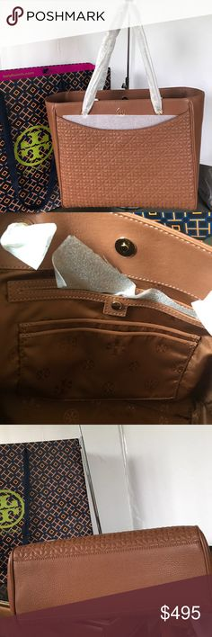 """New Tory Burch shoulder bag Brand new with tag. Inside has 1 zipped pocket and 3 pockets. 1 front and 1 back pockets to put cellphone and keys. Come with shipping bag. Dimensions: 14""""L x 5""""W x 11""""H. Tory Burch Bags Shoulder Bags"""