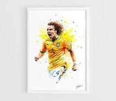 David Luis (Brasil national football team) FIFA World Cup Brasil 2014 - A3 Wall Art Print Poster of