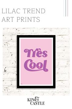Our cool, stylish Tres Cool typographic art print is a must for gallery walls or works well as a feature art print on it's own. The contemporary, modern bubblegum pink and on trend lilac colourway looks great in any room. Perfect for living room home decor, hallway home decor or even the kitchen or bedroom. More colours available online. Art Prints For Home, Wall Art Prints, Monochrome Interior, Interior Design, Coral Wall Art, Pastel Home Decor, Contemporary Art Prints, Typographic Poster, Pastel Colours