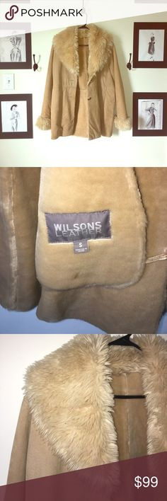 Wilsons Leather coat Vintage leather coat. Great condition. Worn maybe 4 times. Genuine Leather outside. Faux fur lined. Wilsons Leather Jackets & Coats