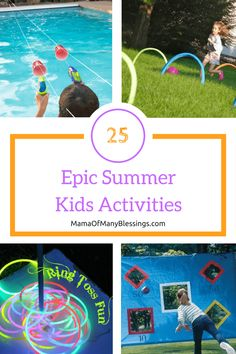 100 super fun summer activities to keep your kids busy all summer long and make for a summer your kids will never forget. Summer Activities For Kids, Summer Kids, Preschool Activities, Healthy Summer Snacks, Summer Arts And Crafts, Outside Games, Rainy Day Fun, Nature Study, Sensory Play