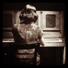Girl and Piano