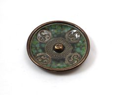 INCENSE BURNER POTTERY Celtic Spiral Emerald Green Handmade Ceramic by DeBaunFineCeramics on Etsy