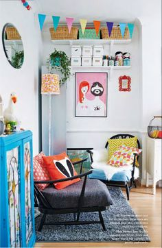 Love this colorful room // At Home in Love
