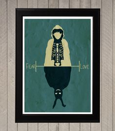 Donnie Darko, Fear and Love Minimalist Poster, Movie Poster, Art Print on Etsy, $18.37