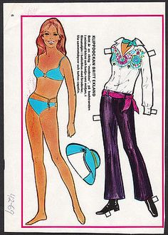 Britt-Ekland-Rare-Vintage-1969-Movie-Film-Star-Paper-Doll