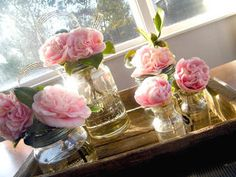 Agee jars for vases Vases, Glass Vase, Jar, Interiors, Candles, Table Decorations, Creative, Pretty, Flowers