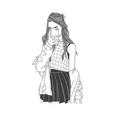 We Heart It found on Polyvore featuring polyvore, fillers, drawings, doodles, backgrounds, sketch, outlines, text, magazine and quotes