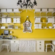 eclectic home office by Michelle Hinckley