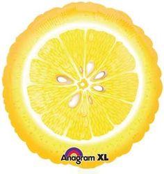 """Amazon.com: Single Source Party Supplies - 18"""" Lemon Junior Shape Mylar Foil Balloon: Toys & Games"""