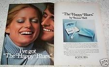 1973 vintage ad - Bonne Bell Cosmetics HAPPY BLUES eye make-up SEXY Girl old AD