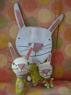Bunny Pin, etc.  SurpriseDelightJoy.BlogSpot.com  sUz dAvis stUdio