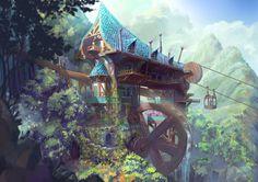 ArtStation - wizards house, dea bum Kim